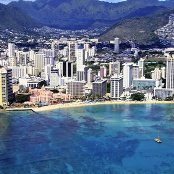Waikiki has beautiful beaches.