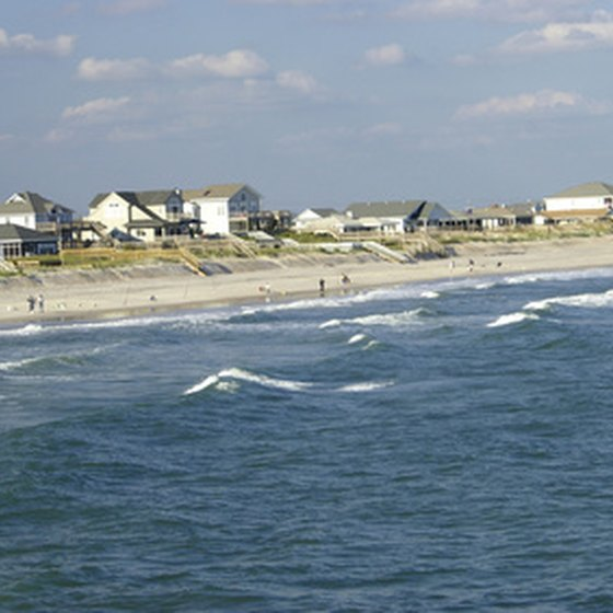 Topsail Island's beautiful beaches are its primary draw for tourists.