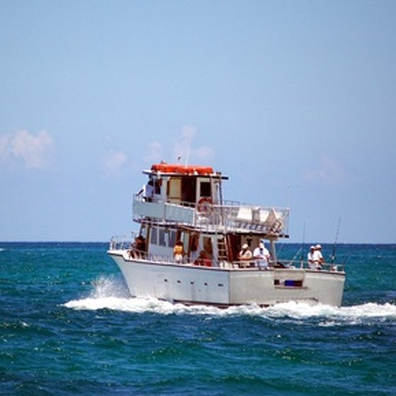 Charter boats offer deep-sea fishing trips in South Florida.