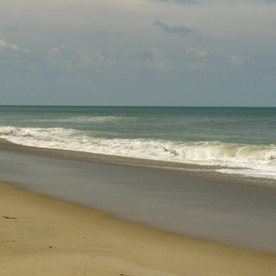 Emerald Isle Beach is on the outer banks of North Carolina.