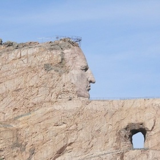 Crazy Horse Memorial in South Dakota is one of many tourist destinations for RV campers.
