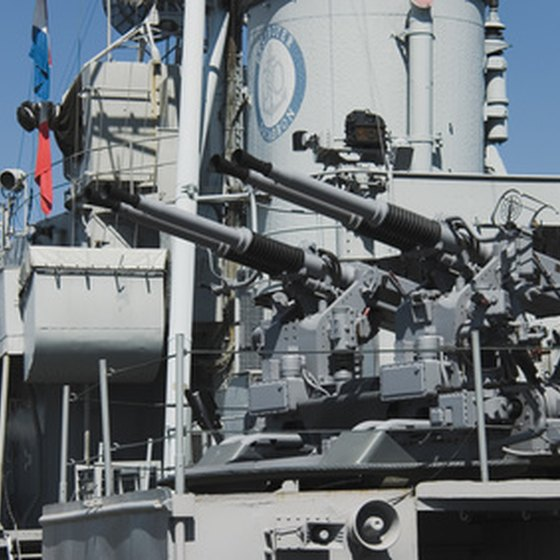 Anti-aircraft guns are part of the Missour's armament.