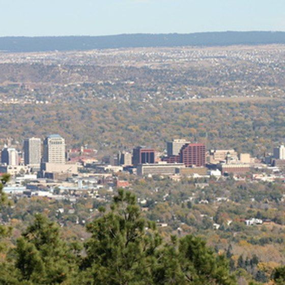 Colorado Springs welcomes visitors from below.