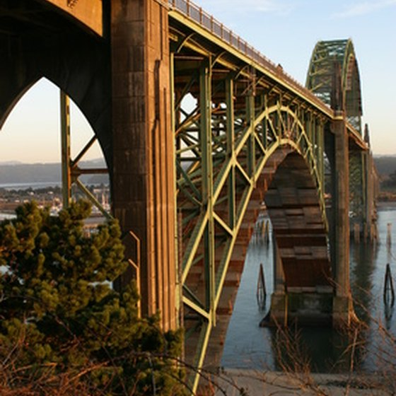 Yaquina Bay Bridge in Newport, Oregon.