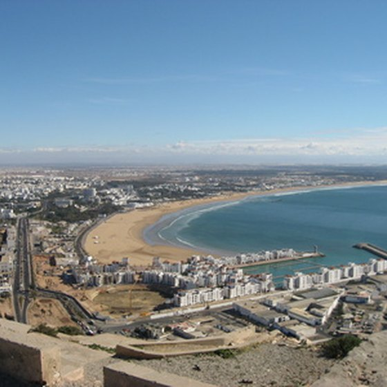 Agadir is first and foremost a Moroccan beach resort.