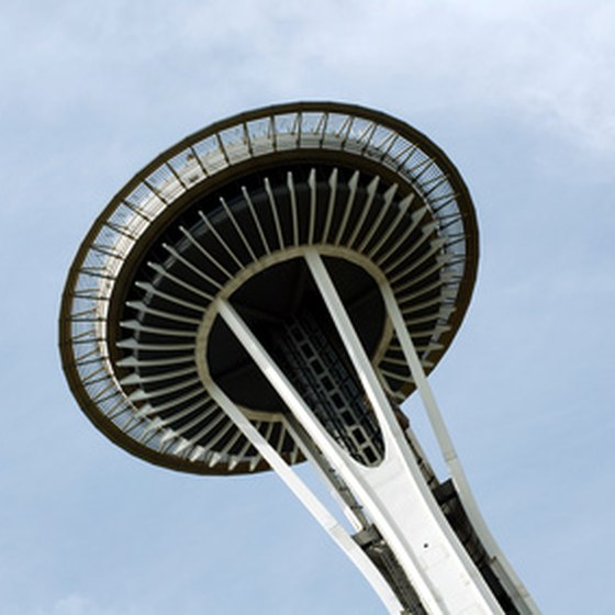 The Space Needle in Seattle Center was constructed for the World's Fair.