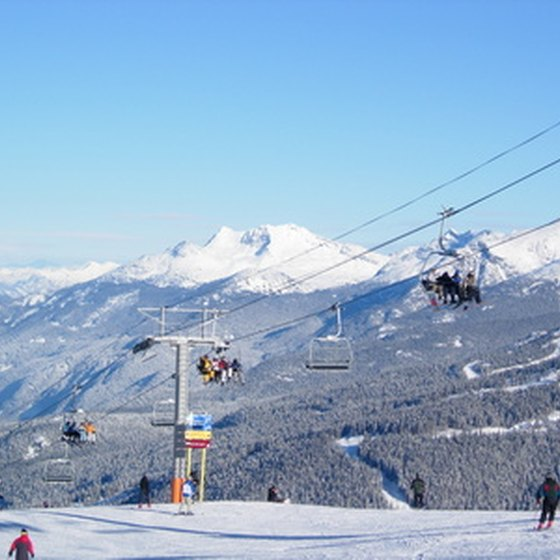 Whistler, British Columbia, is home to many ski resorts.
