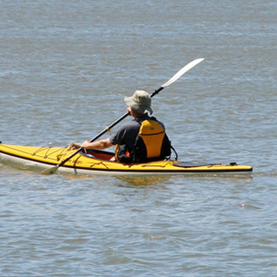 Kayaking is available at Willow Lake.
