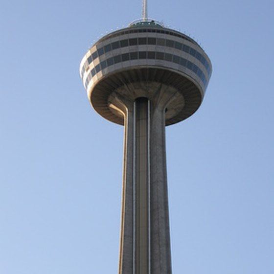 Niagara's Skylon towers over the falls.