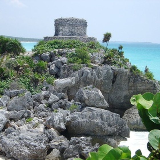 Tulum is one of Mexico's Mayan ruin sites.