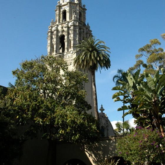 An example of San Diego's beautiful Spanish architecture in Balboa Park.