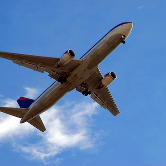 Calculating air travel miles can be done using online tools.