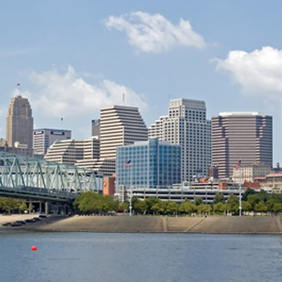 A view of the Cincinnati skyline.