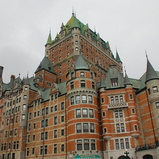 The Chateau Frontenac in Quebec City makes a lasting impression.