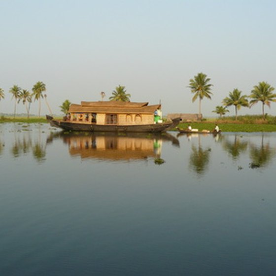Houseboat in Kerala, South India
