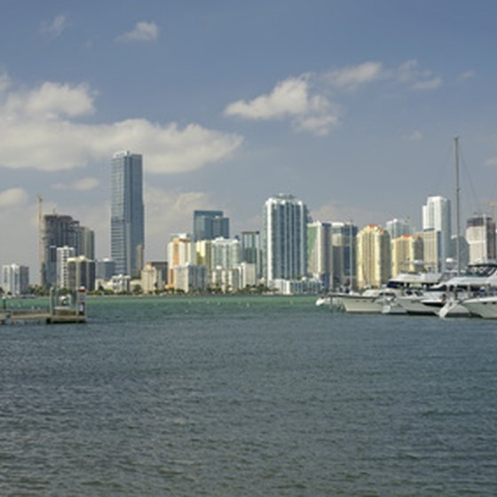 Day cruises from Miami offer an opportunity to view the city skyline.