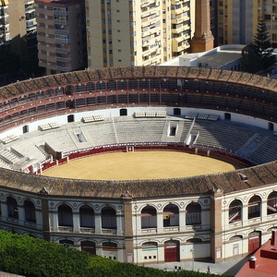 The historic Ronda Bullring in Malaga, a city on Spain's Mediterranean coast.