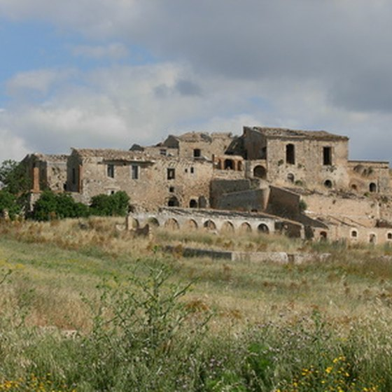 The Sicilian countryside is rich with Italian history.