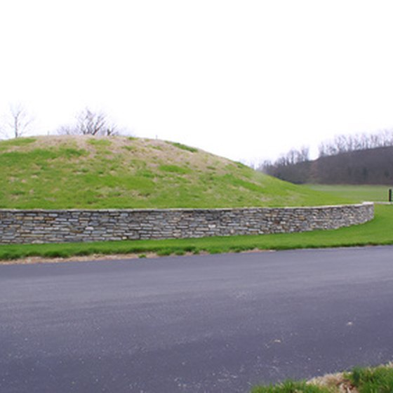 Oak Mounds are Indian mounds dating back to A.D. 1 and 1000.