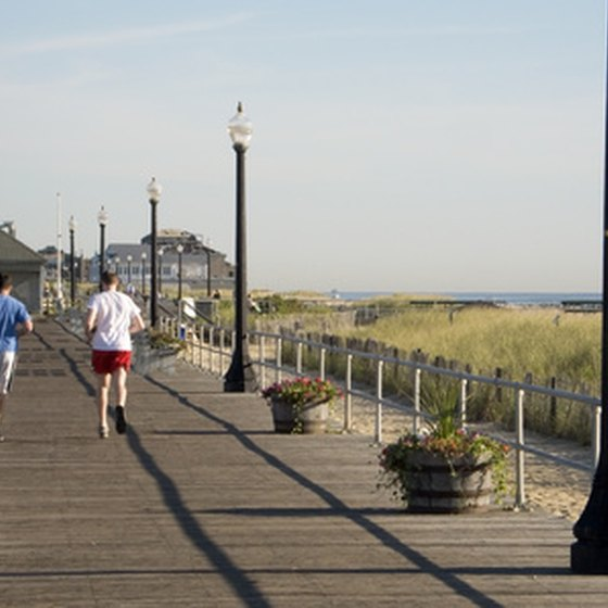 The boardwalk offers many attractions for beach goers.