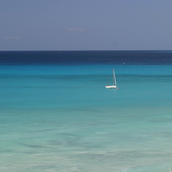 Your high end cruise ship will provide you with a small sailboat in the Caribbean.