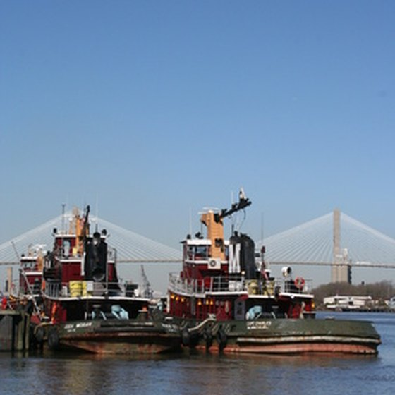 Go back in time on a boat tour of the historic Savannah River.