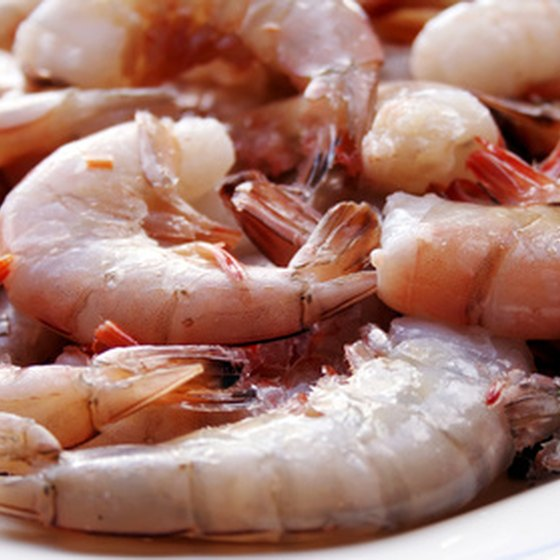 Fresh-caught Gulf Coast shrimp can be enjoyed at many Galveston restaurants.