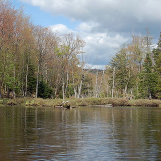 A remote lake near Old Forge in the Adirondack Mountains