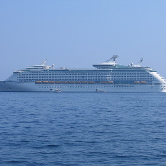Many cruise ships sail to the Bahamas.