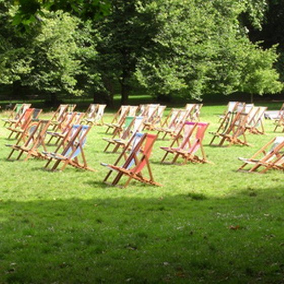 Summer chairs in Hyde Park