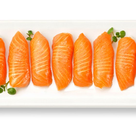 Sake or raw salmon is a popular dish at Jacksonville sushi restaurants.