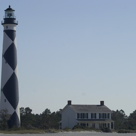 North Carolina RV parks put a traveler close to attractions like the Cape Lookout Lighthouse.