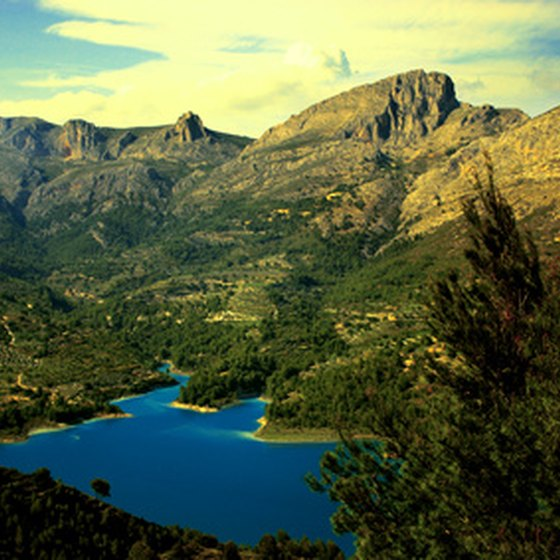 Mountain and lake scenery in Spain