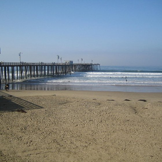 Pismo Pier in Pismo Beach, California.