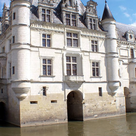 Where the chateau meets the river.