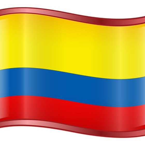 The flag of Colombia