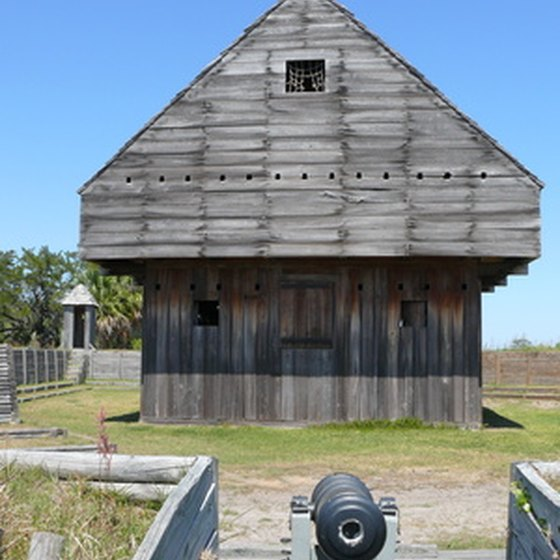 Ft. Fisher has old Civil War-era coastal defense buildings such as this one.
