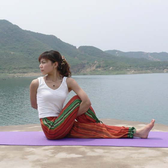 Yoga is a popular class offered at many health spa resorts.