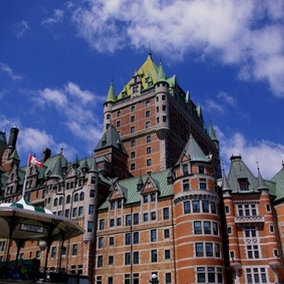 The sprawling Château Frontenac dominates the skyline of Québec City.