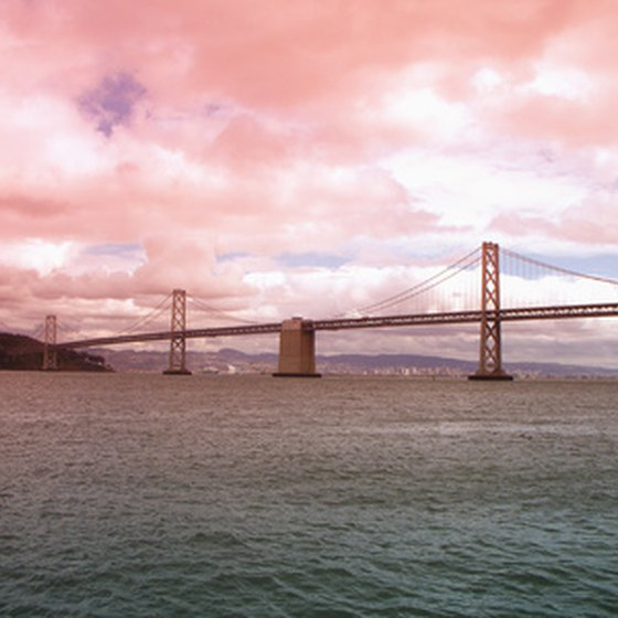 San Francisco, California, is home to the Bay Bridge.