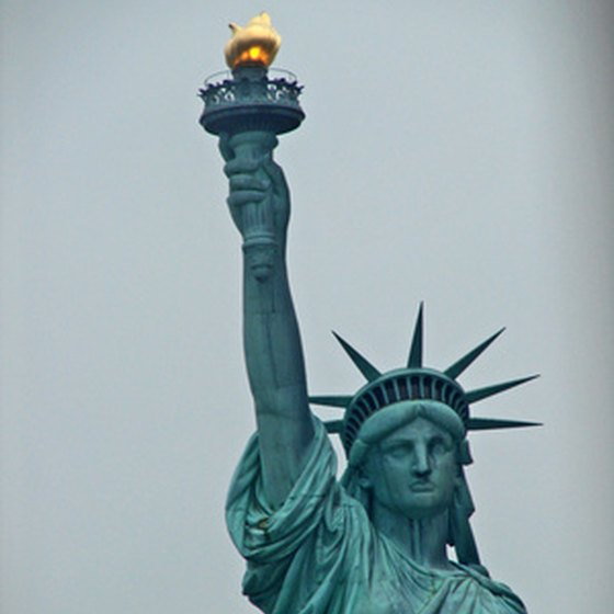 The Statue of Liberty on Liberty Island in New York.