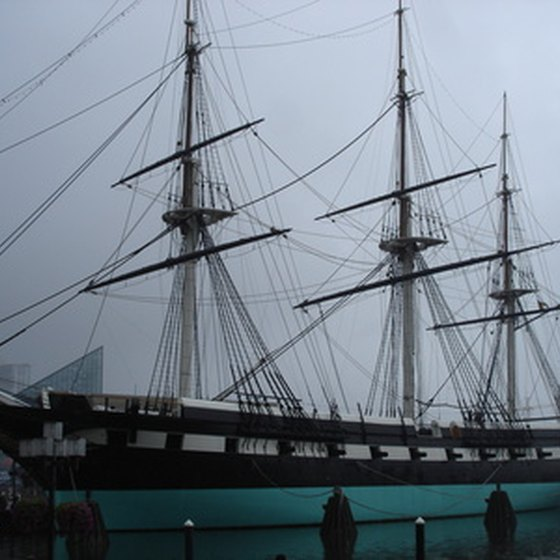 The USS Constellation at port in Baltimore's Inner Harbor