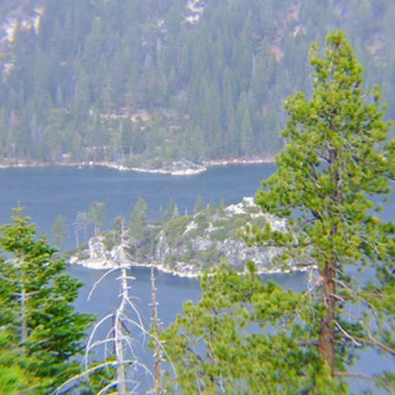 Lake Tahoe's Emerald Bay is a popular spot for taking vacation photos.