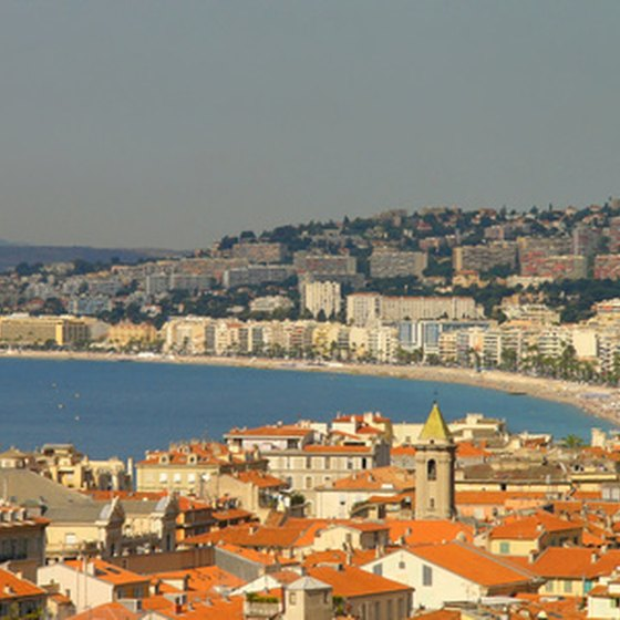 Panoramic view of Nice and the Mediterranean