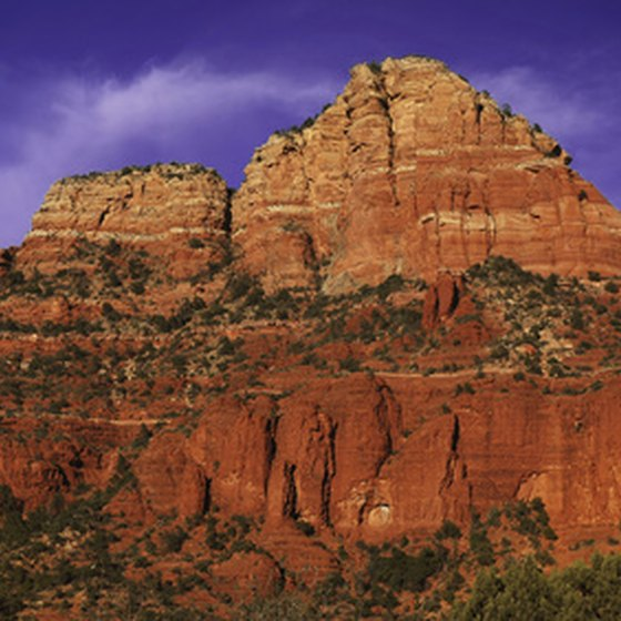 Sedona is home to beautiful red rock formations.