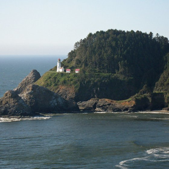 RV camping on the Oregon coast is a popular year-round activity.