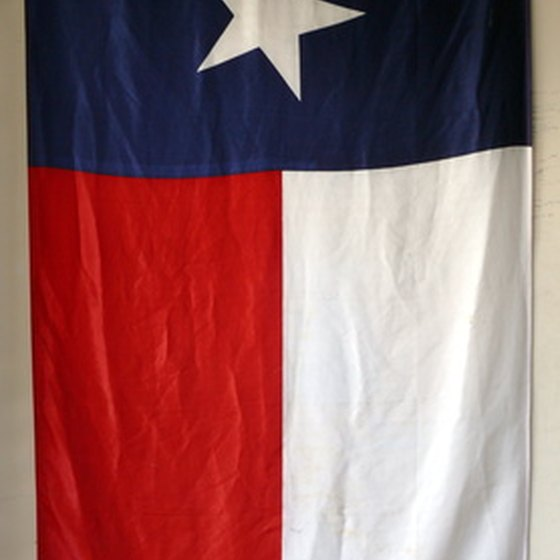 The state flag of Texas welcomes visitors as they experience all the Lone Star state has to offer.