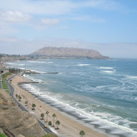 Lima lies along the Pacific Ocean.