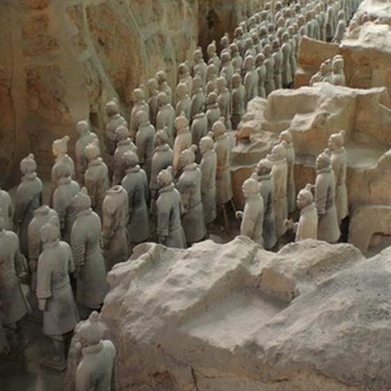 Terracotta Warriors are found in Xi'an, China.