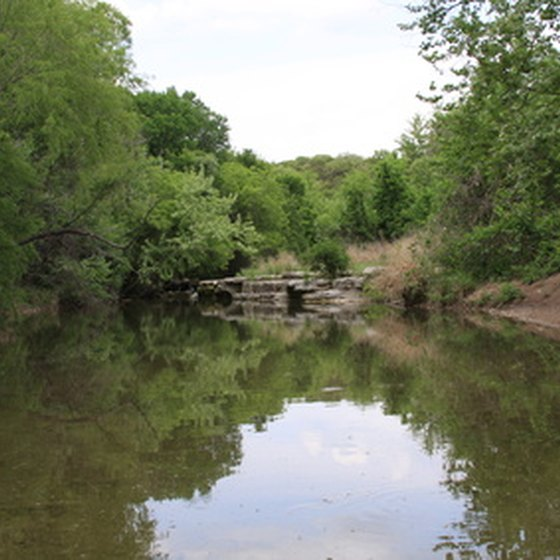 Austin is surrounded by wilderness, including this fishing hole just outside town.